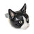 Black and White Cat Doorknob