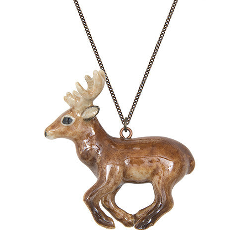 Running Stag Necklace