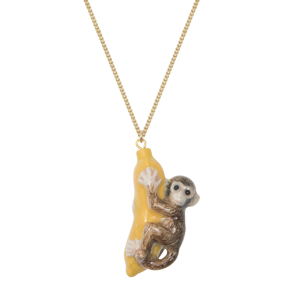 Monkey & Banana Necklace