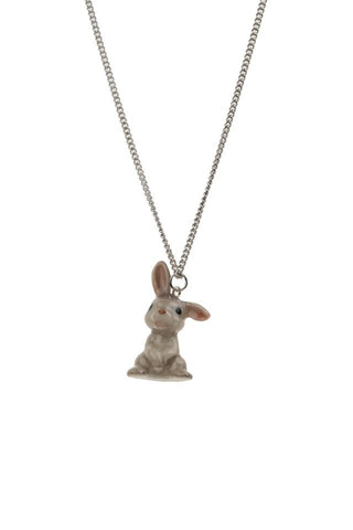 Baby Grey Bunny Necklace
