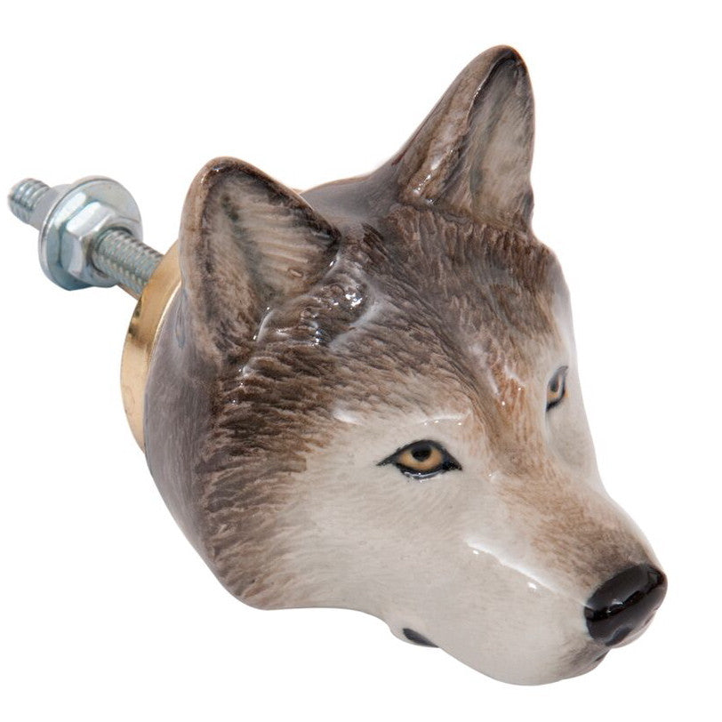 Wolf Head Doorknob