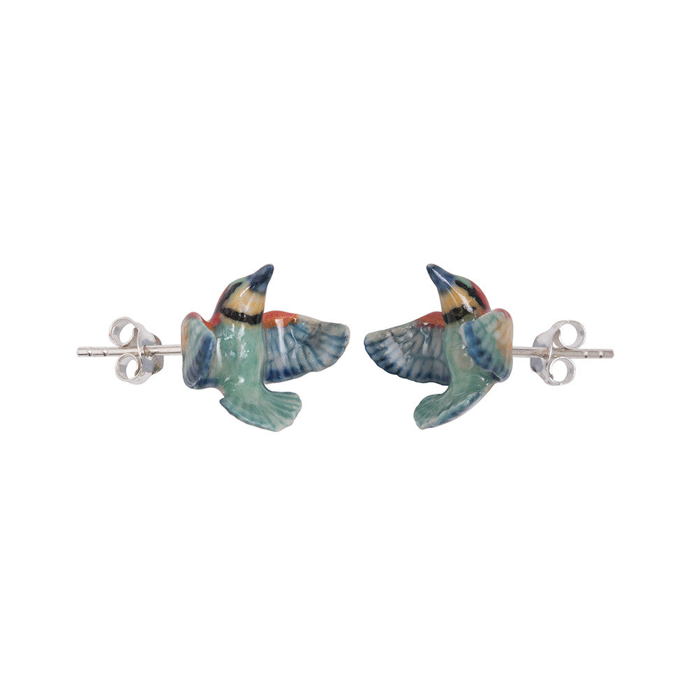 Bright Bee Eater Stud Earrings