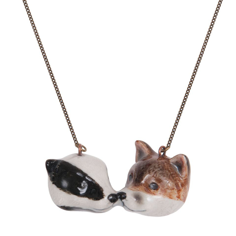 Badger & Fox Cub Necklace
