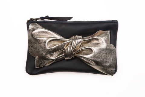 Navy Bow purse