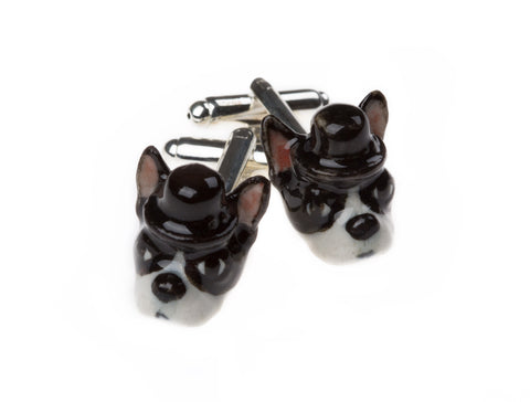 Elvis The Boston Terrier Cufflinks