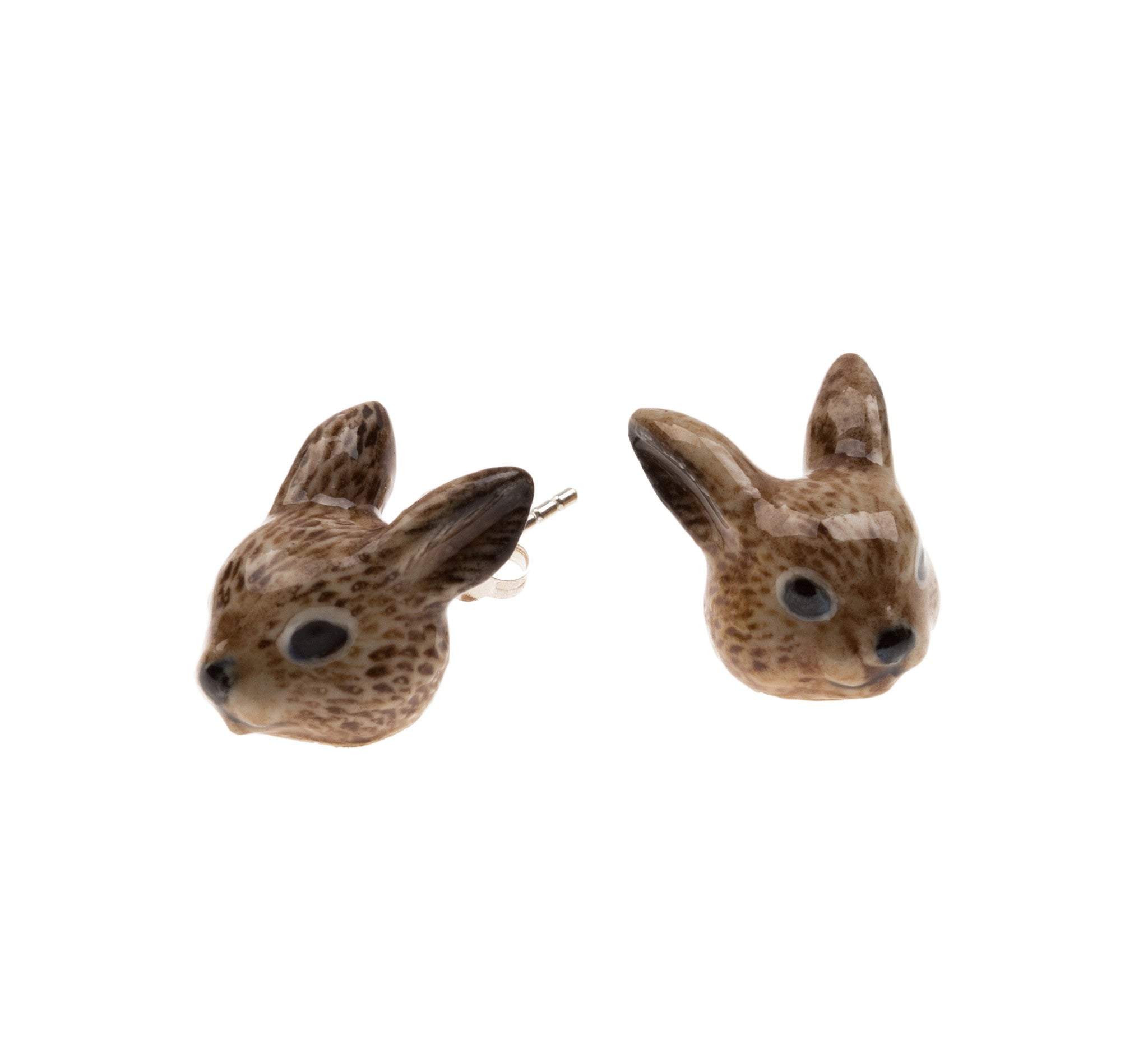 Brown Rabbit Stud Earrings