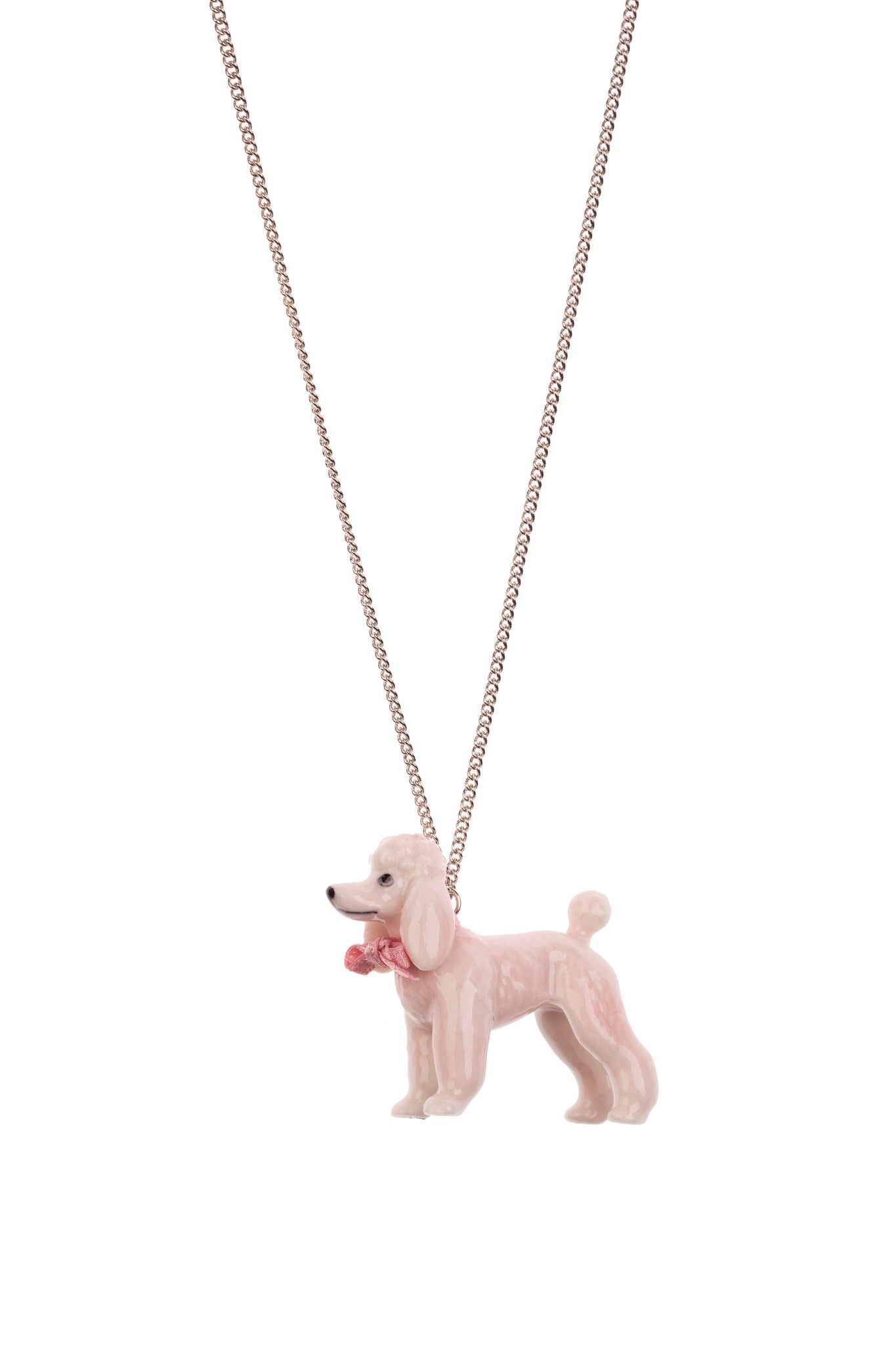 Pink Poodle Necklace