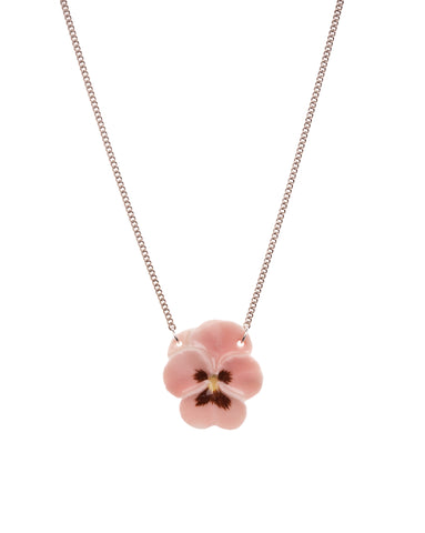 Pink Pansy Necklace