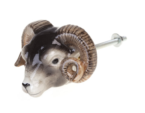Sheep Head Doorknob