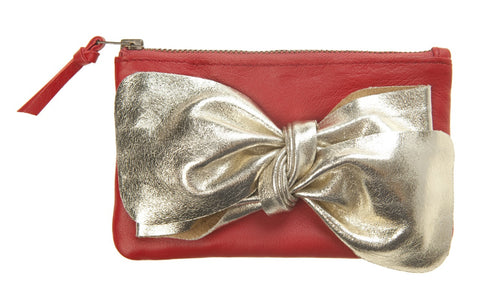 Lipstick Red Bow Purse