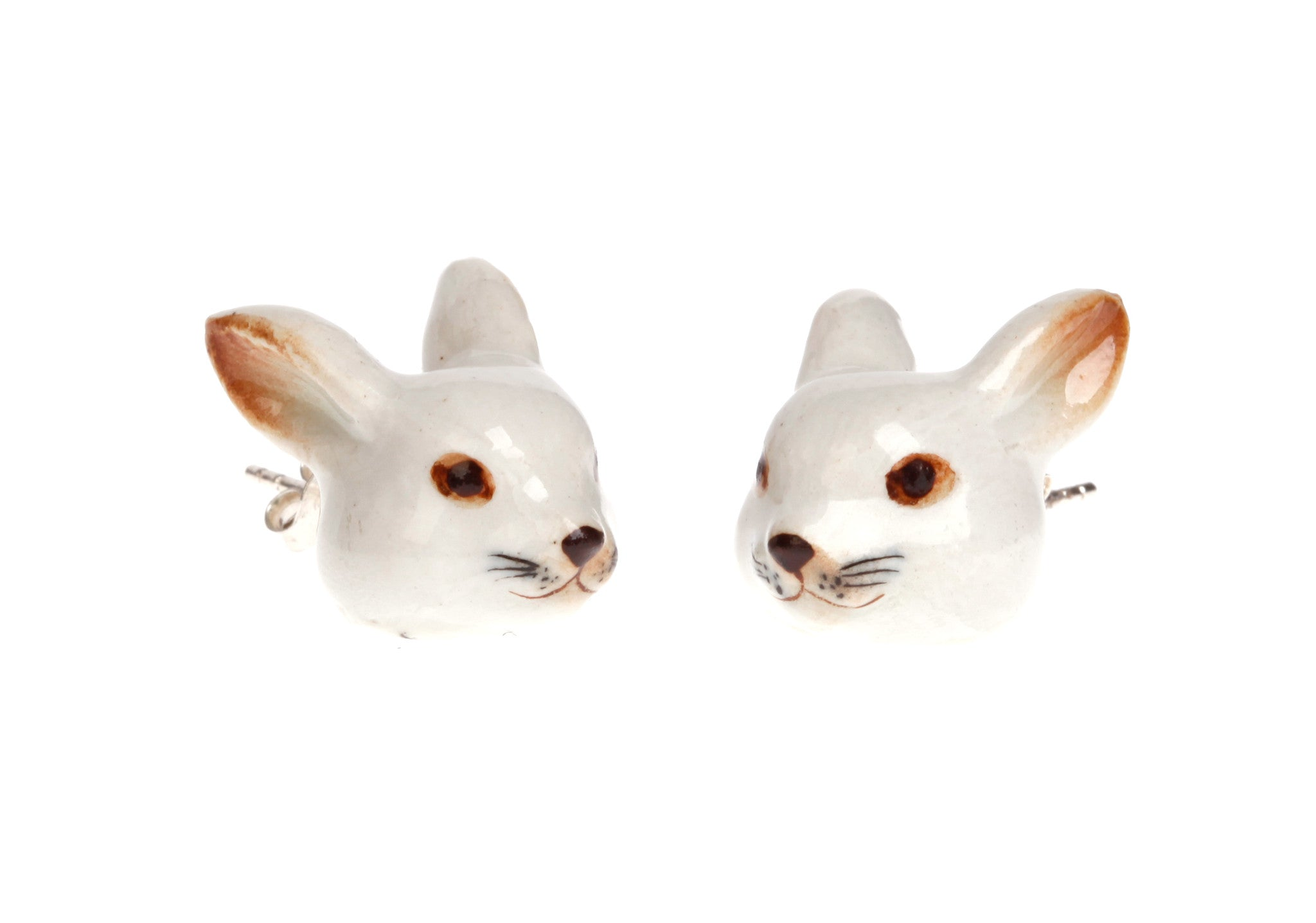 Lucky White Rabbit Earrings