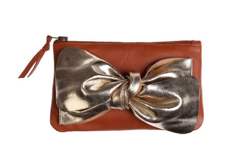 Tan Bow Purse
