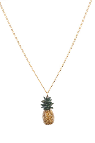 Small Natural Pineapple Necklace