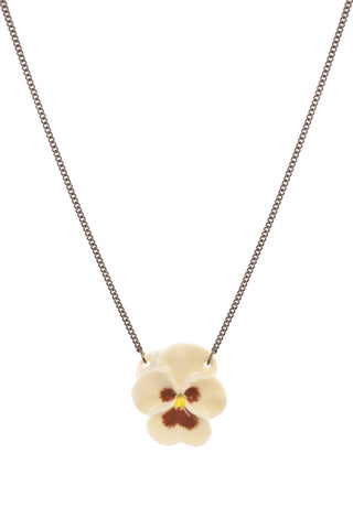 Yellow Pansy Necklace