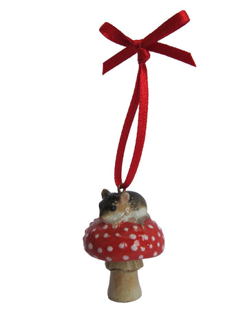 Mouse and Toadstool Decoration