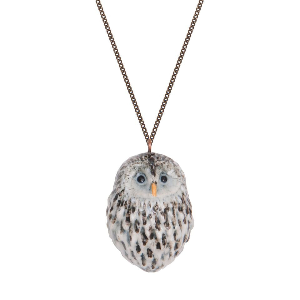 Baby Snow Owl Necklace