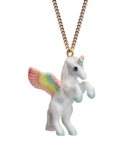 Flying Pastel Unicorn Necklace