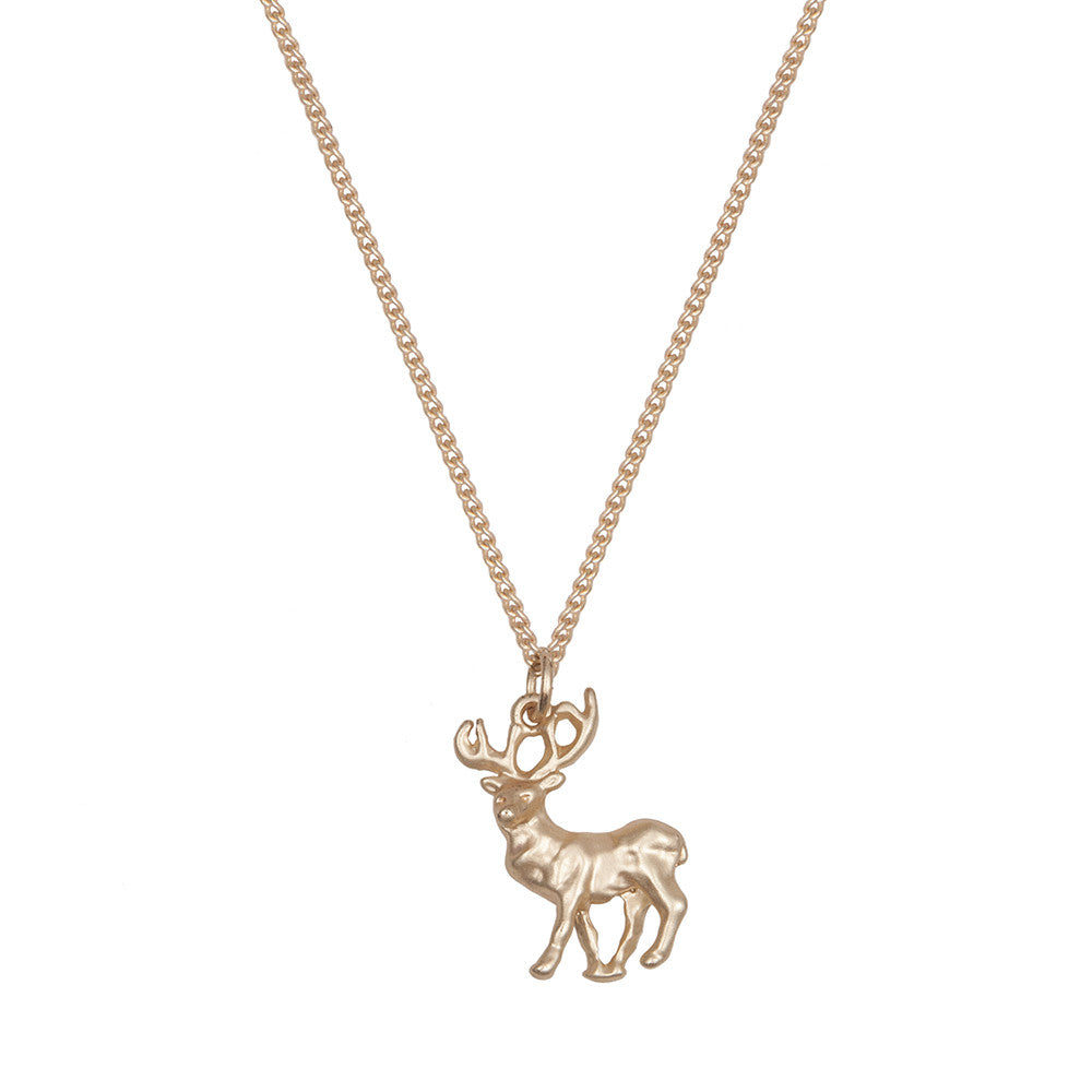 Small Gold Stag necklace