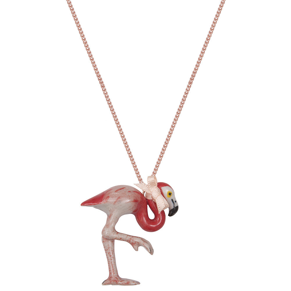 Small Flamingo Necklace
