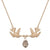 Kissing Humming Bird With Smokey Drop Stone Necklace