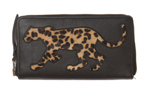 Black Leopard Print Cut Out Purse