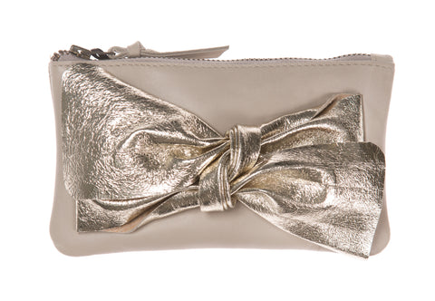 Soft Putty Bow Purse