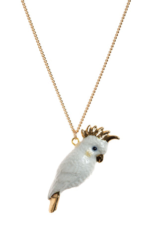 Cockatoo With Gold Beak Necklace
