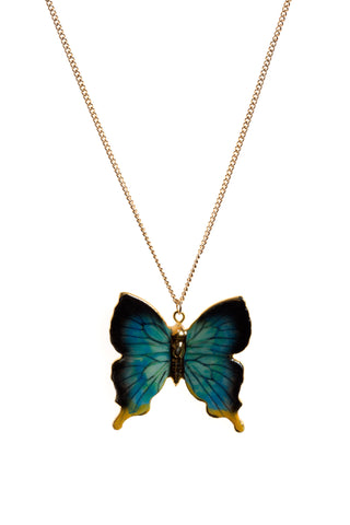 Butterfly Necklace With Gold Detailing