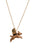 Flying Pig Necklace With Gold Wings