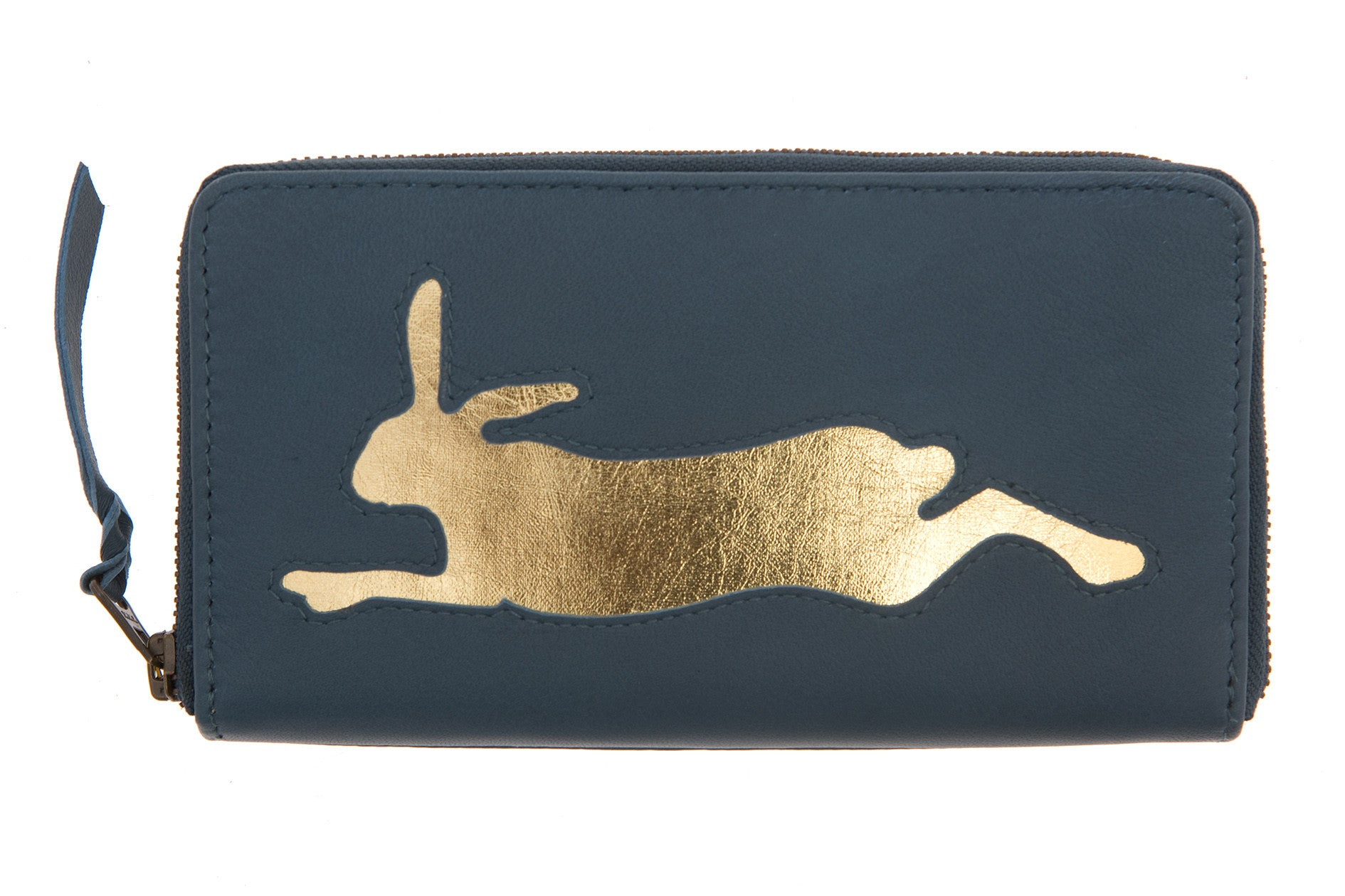 Petrol Leather Hare Cut Out Purse