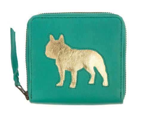 Jade Leather Single Bulldog Cut Out Purse