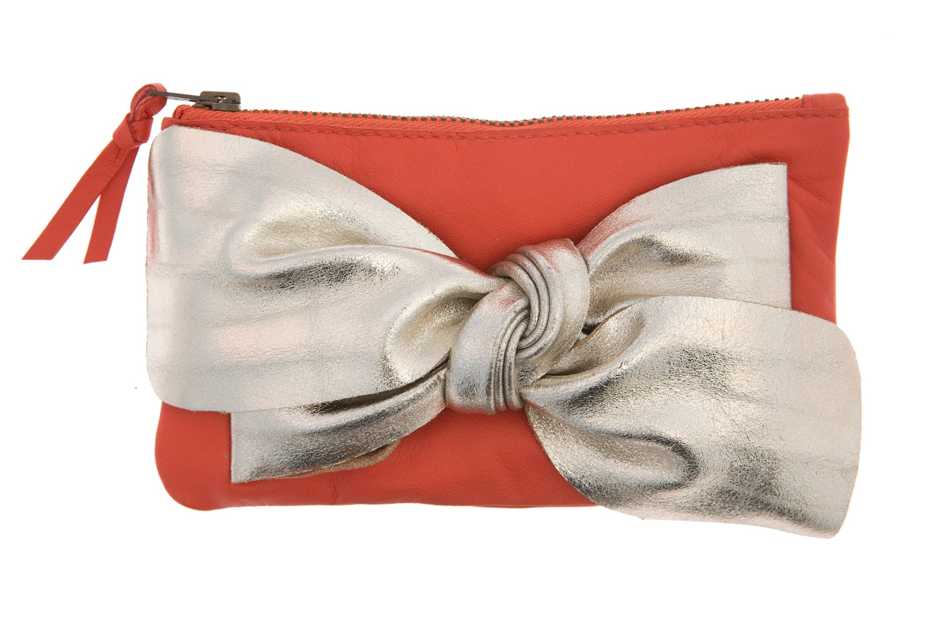 Burnt Orange Bow Purse
