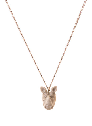 Rhino Head Necklace