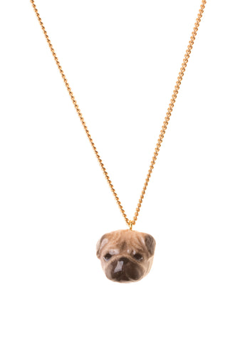 Pug Head Necklace