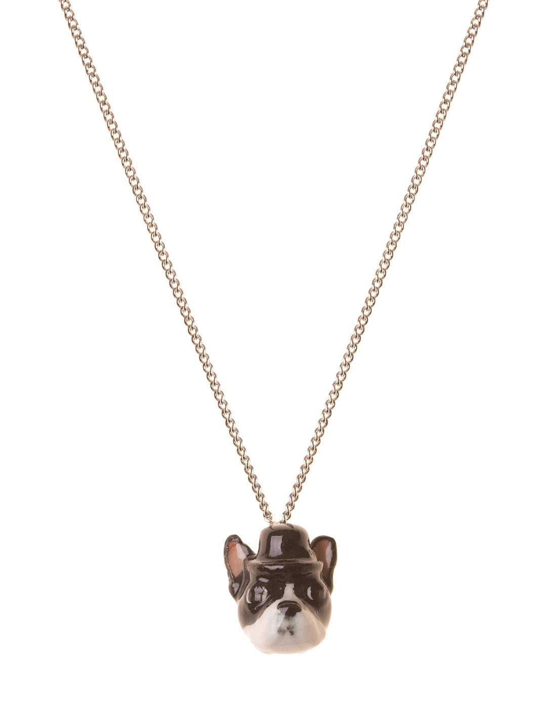 Elvis The Boston Terrier Head Necklace