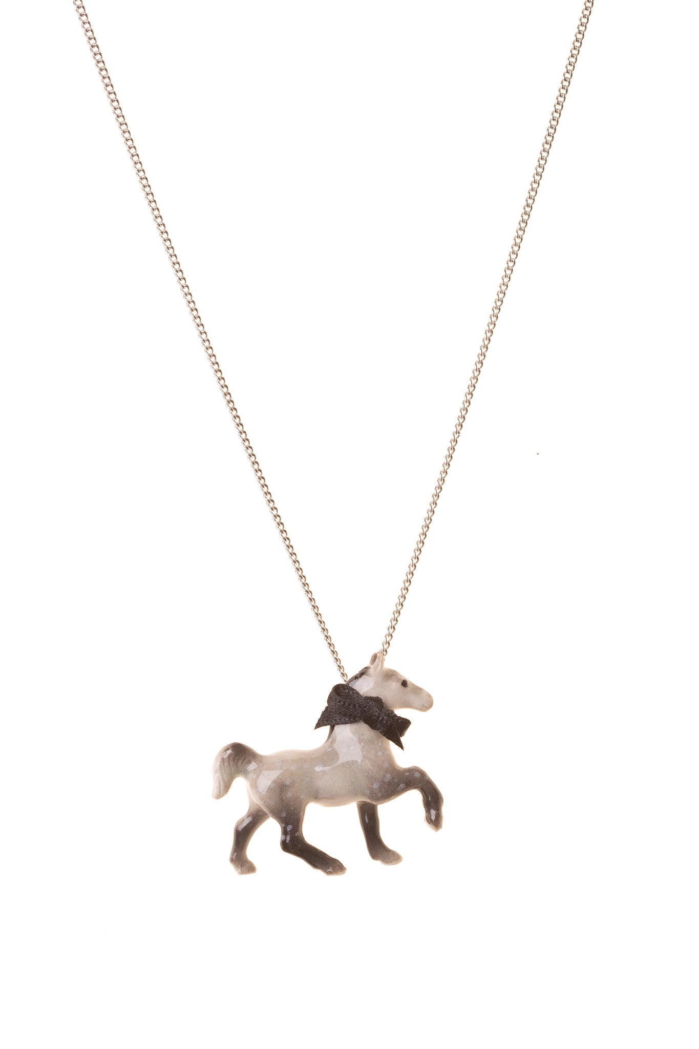 Grey Horse Necklace