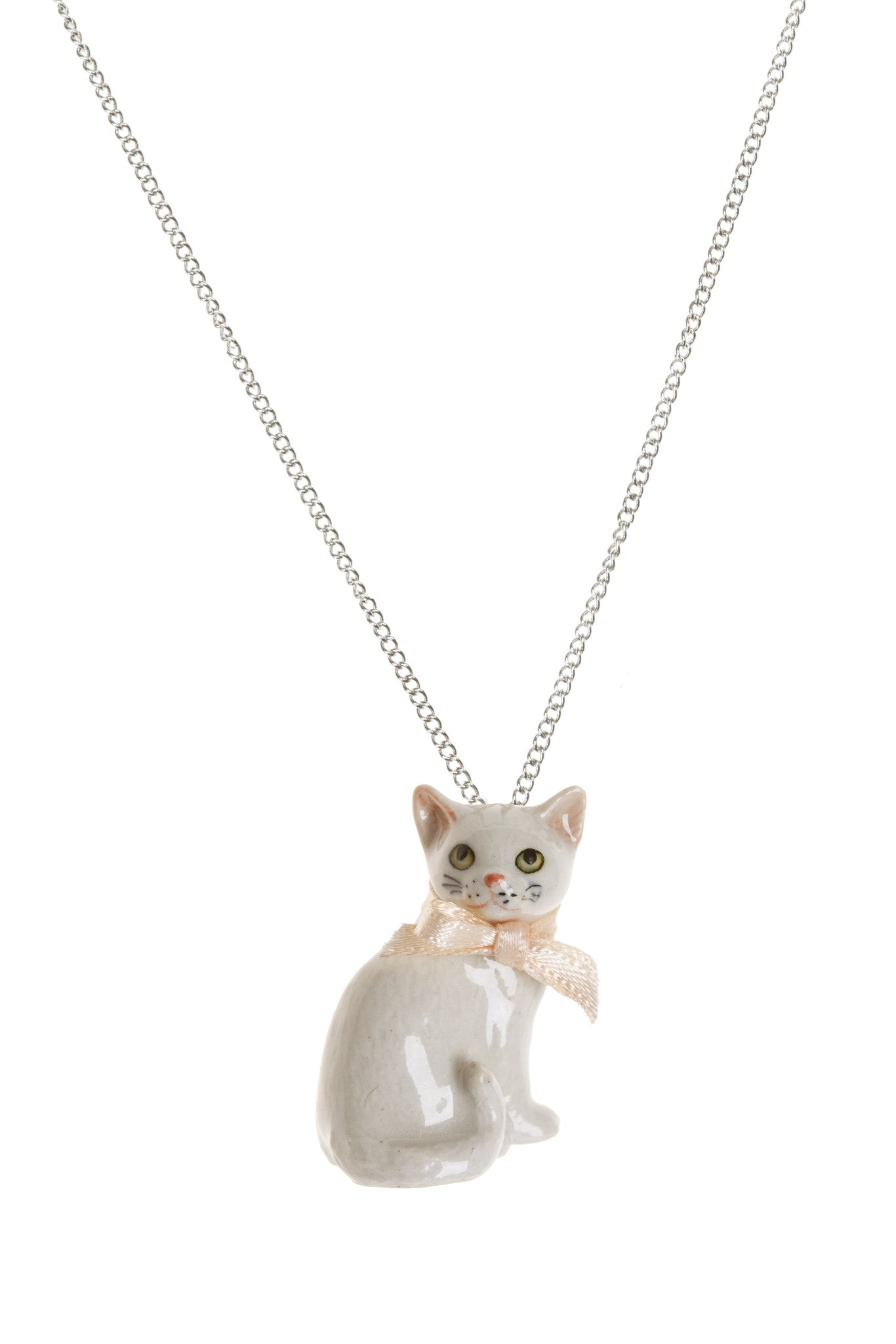 White Cat Necklace