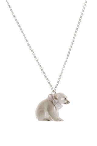 Baby Sitting Polar Bear Necklace