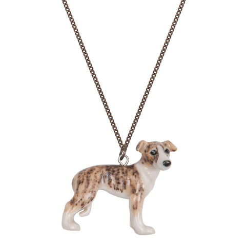 Josh the Whippet Puppy Necklace