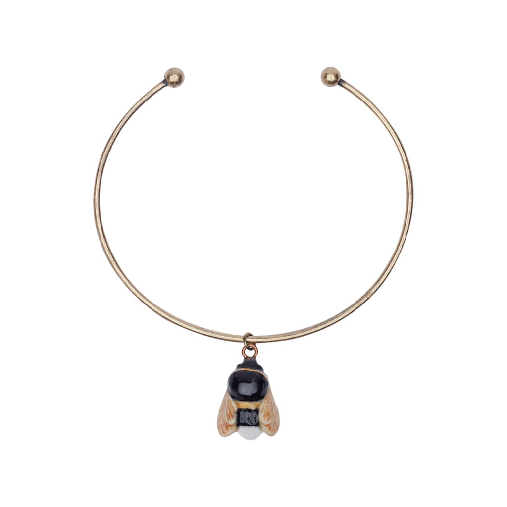 Tiny Bumble Bee Charm Bangle
