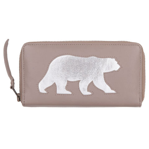 Soft Grey Polar Bear Cut Out Purse