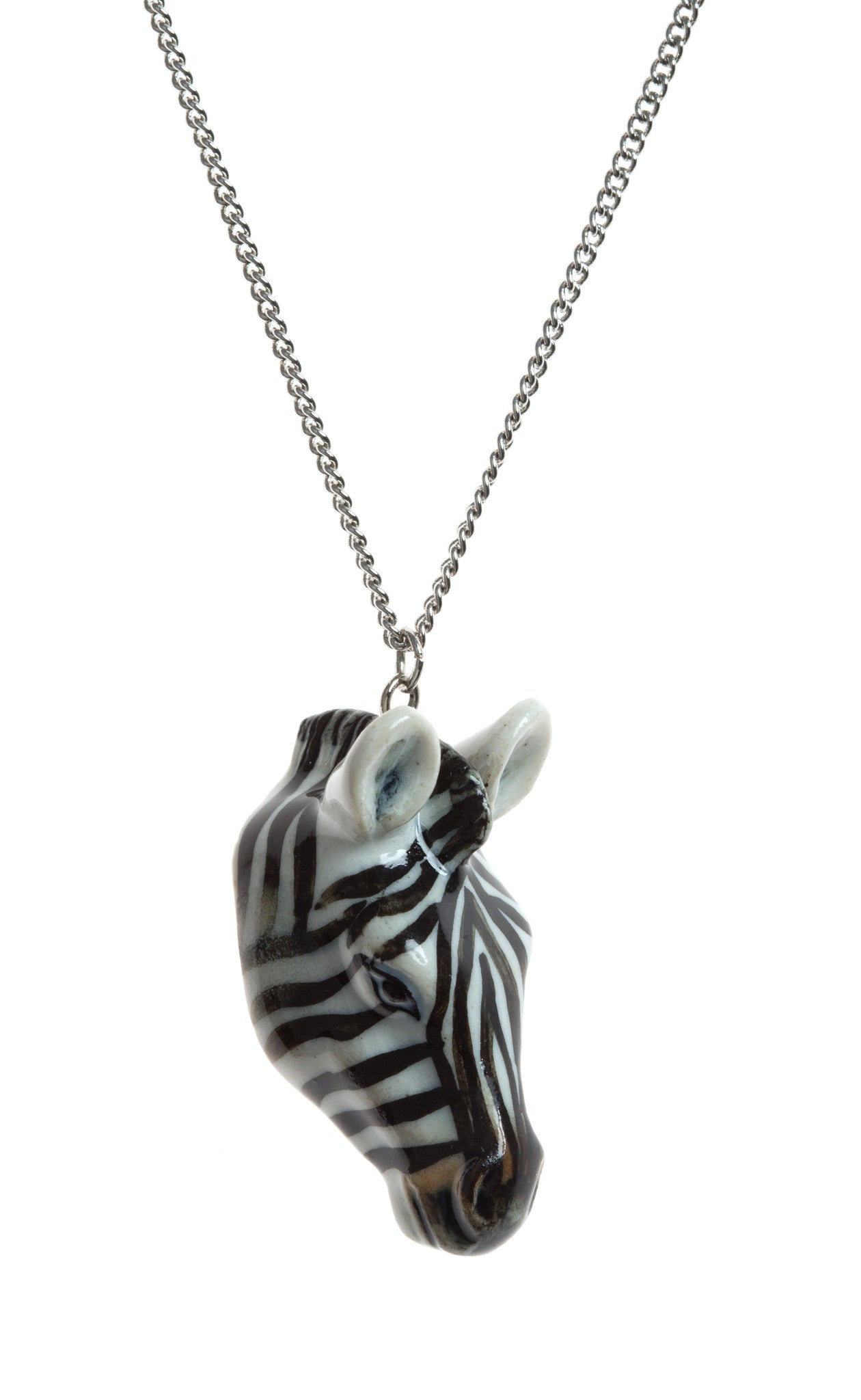 Zebra Head Necklace