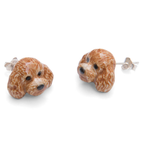 Apricot Poodle Earrings