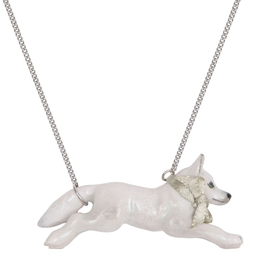 Snow Fox Necklace