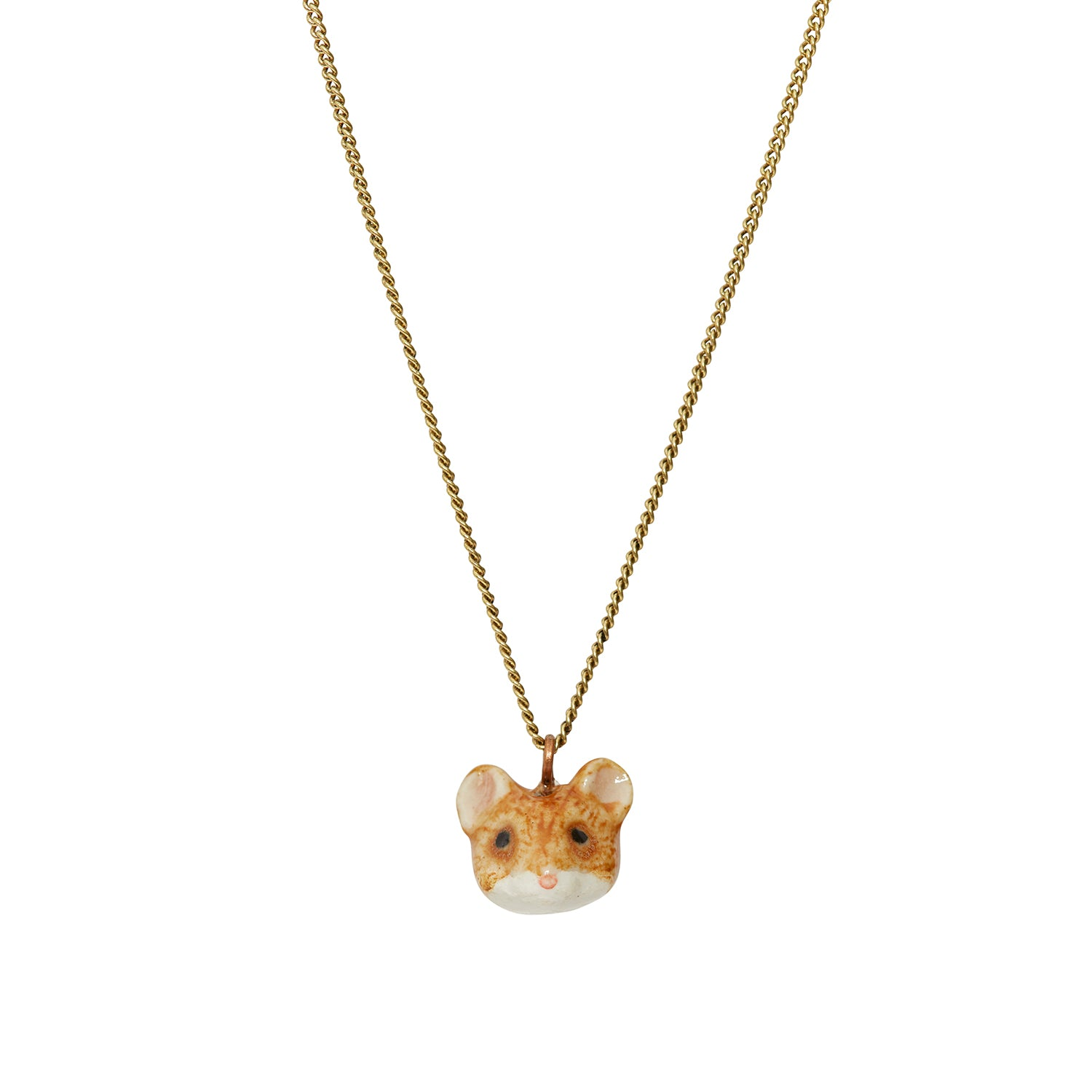 Tiny Ballerina Mouse Head Necklace