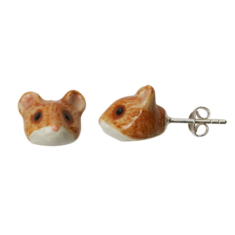 Ballerina Mouse Stud Earrings