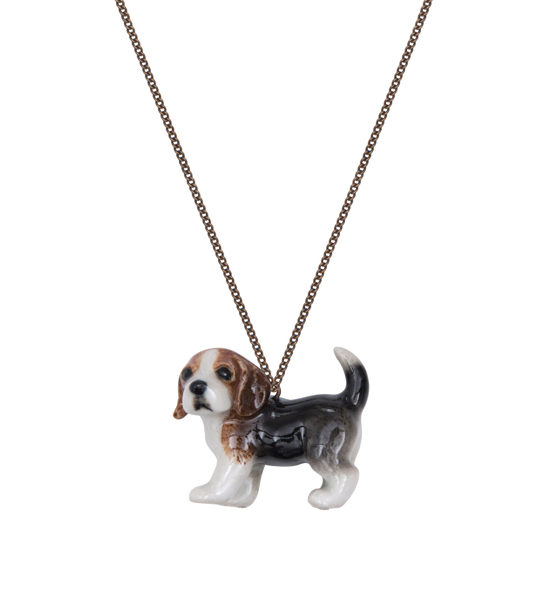 Barkley the Beagle Puppy Necklace