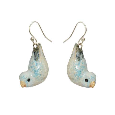 Blue Parrotlet Hook Earrings