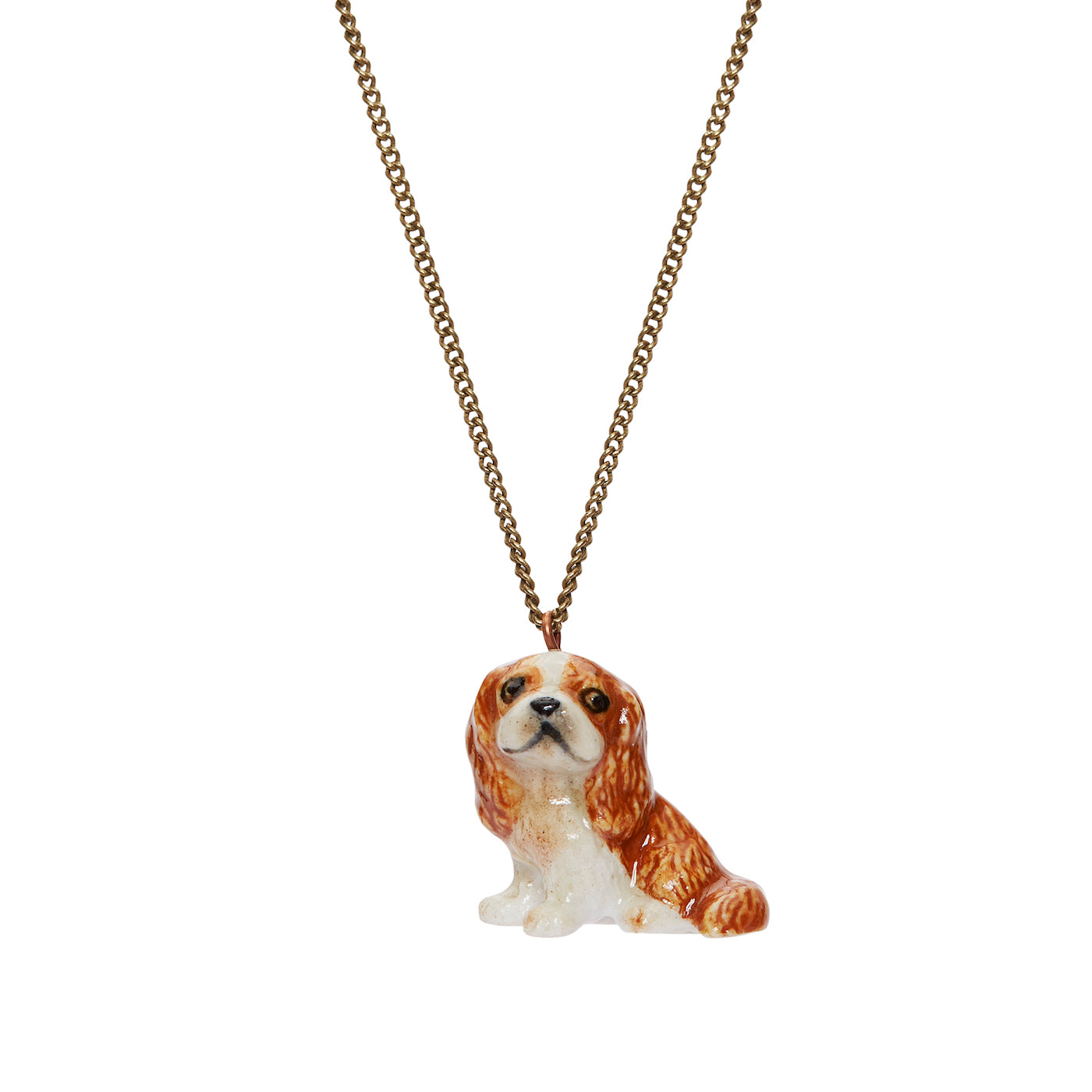Brown King Charles Spaniel Necklace
