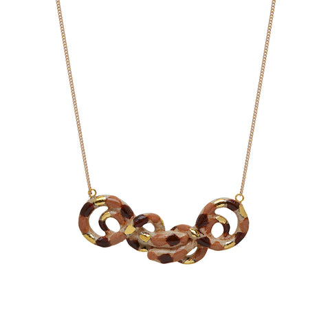 Double Brown Snake Necklace